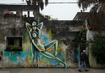 Street art in Buenos Aires (Coghlan), Argentina,<br/>by artist Alice Pasquini.&hellip; | World of Street &amp; Outdoor Arts | Scoop.it