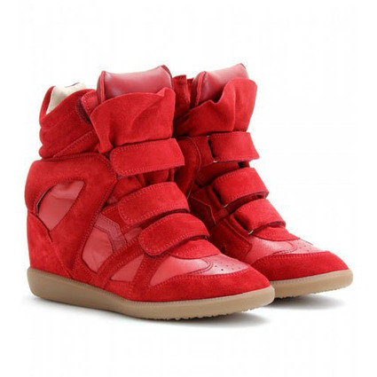 Upere Wedge Sneakers Suede Full Red - $190.68 | UPERE Wedge Sneakers Show | Scoop.it