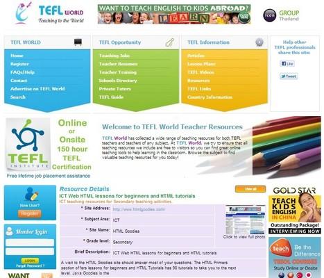 TEFL ICT Resources, ICT Web HTML lessons for beginners and HTML tutorials | Free Tutorials in EN, FR, DE | Scoop.it