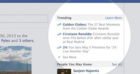Tendances : Facebook s'inspire des « Trending topics » de Twitter pour son « Trending » | linformatique | Scoop.it