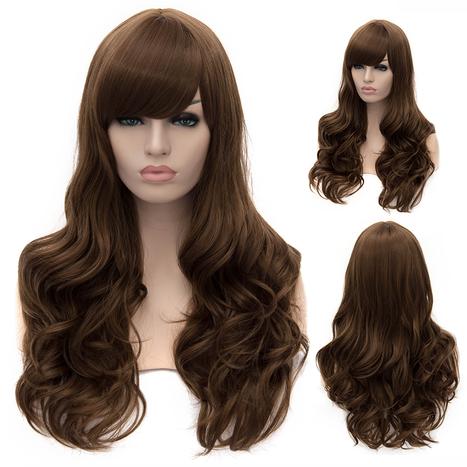 Lotita European Hairstyle Long Wavy Side Bang Brown Wig : fairywigs.com | Synthetic Hair Wigs | Scoop.it