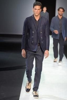 Giorgio Armani Men's RTW Spring 2014 - Women's Wear Daily | Mens Underwear | Scoop.it