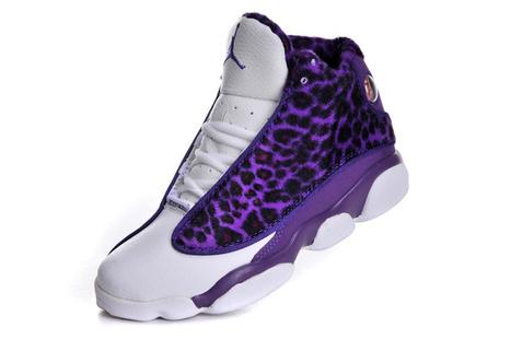 Air Jordan 13 Womens Leopard Purple White Shoes Inexpensive   SHARES   Scoop.it