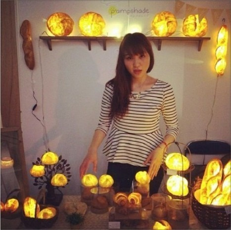 Bread-Obsessed Japanese Artist Turns Loaves into Beautiful Lampshades | Strange days indeed... | Scoop.it