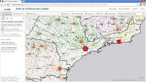 Rede de Influência das Cidades    ArcGIS Online Web Map   ArcGIS Geography   Scoop.it