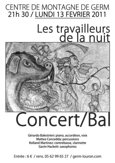 Concert lundi 13 février à Germ et nulle part ailleurs !   Louron Peyragudes Pyrénées   Scoop.it