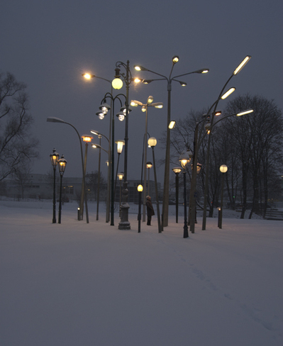 Sonja Vordermaier: Streetlampforest | Art Installations, Sculpture, Contemporary Art | Scoop.it