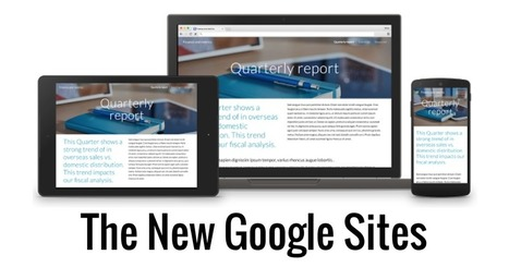 Control Alt Achieve: The Totally New Google Sites | An Eye on New Media | Scoop.it