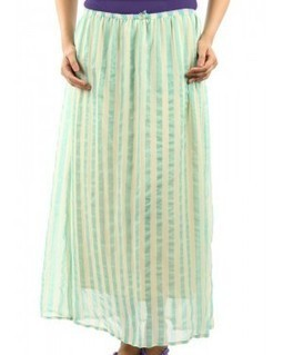 Women's Long Skirt Cream & Green | EdayGarments- Buy Dresses, skirts, tops, Tunics | Scoop.it