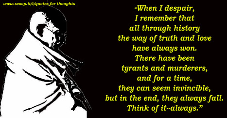 Gandhi on History   Quote for Thought   Scoop.it