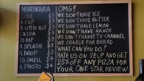 This Restaurant Wants to Be the Worst Rated on Yelp, and the Reviews Are Indeed Hilarious | Fresh from Edge Communication | Scoop.it