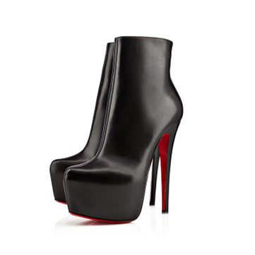 Daf Booty Black 160mm Leather Boots [20131001] - $269.00 : bagbagsoutlets | bags outlet | Scoop.it