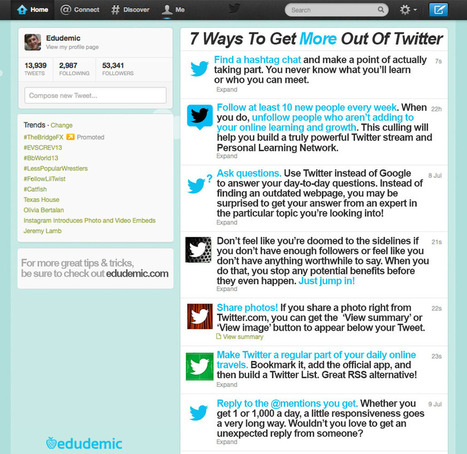 7 Must Know Twitter Tips for Teachers ~ Educational Technology and Mobile Learning | Education | Scoop.it