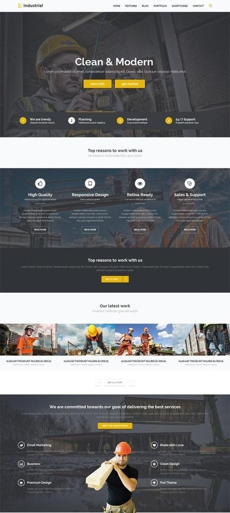16 Best And Free Industrial Responsive HTML Website Templates | Webtechelp | Scoop.it