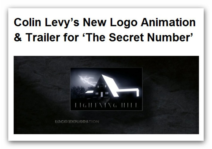 Colin Levy's New Logo Animation & Trailer for 'The Secret Number - Blender News | Machinimania | Scoop.it