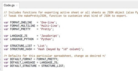 Exporting a Google Spreadsheet as JSON | Google Apps Script | Scoop.it