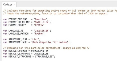Exporting a Google Spreadsheet as #JSON | e-Xploration | Scoop.it