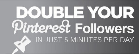 Double Your Pinterest Followers In Just 5 Minutes a Day [Infographic] - | My Blog 2014 | Scoop.it