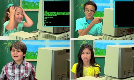 Watch video of confused kids try to make sense of 1970s computer - Daily Mail | Educational Video for Kids | Scoop.it