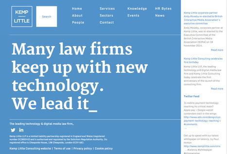 The leading technology & digital media law firm - Kemp Little | Digital Portfolio by Small Back Room | Scoop.it