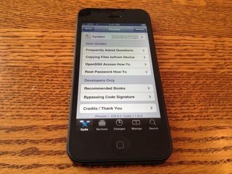 L'iPhone 5 jailbreaké ! | Un peu de tout... | Scoop.it