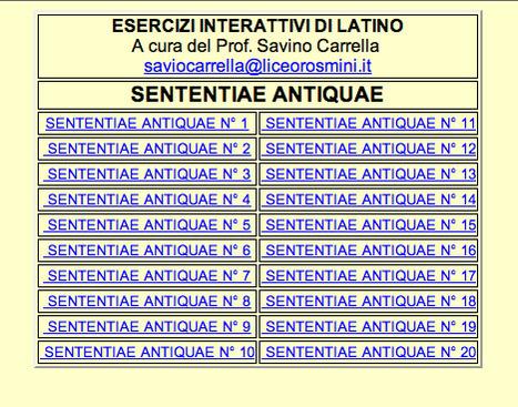 Esercizi interattivi di latino | Ollarios | Scoop.it
