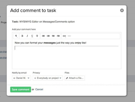 New WYSIWYG editor option for Messages/Comments | Teamwork ... | consomacteur e-commerce | Scoop.it