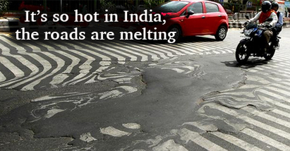 "India Heatwave Kills 800+ and Literally Melts the Roads (""boiling temp kills more than 1100 in India"") 
