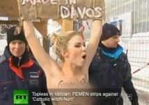 Half-Naked Women Protest Gender Inequality At Davos [VIDEO ... | Inequality | Scoop.it