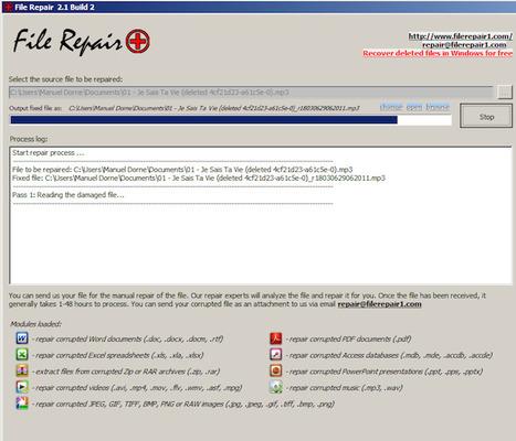 Telecharger File Repair - Sauvez vos fichiers endommagés | Trucs et astuces du net | Scoop.it