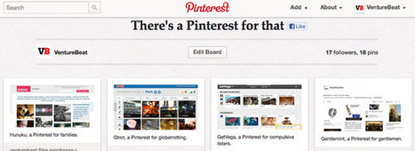 There's a Pinterest for that: A list of niche Pinterestclones | Everything Pinterest | Scoop.it