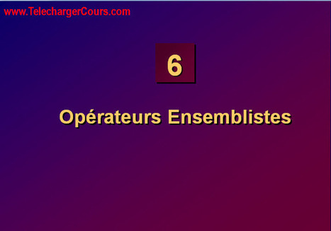 Opérateurs Ensemblistes | SQL Oracle | Cours Informatique | Scoop.it