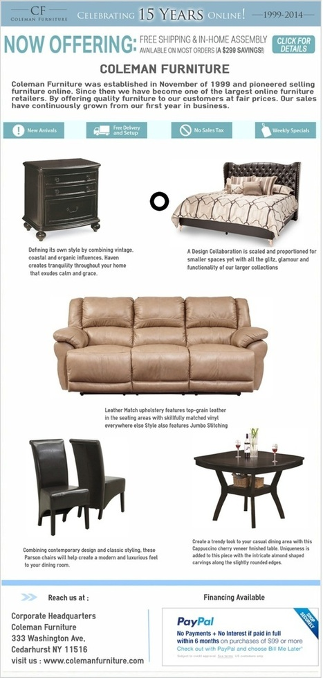 Coleman Furniture Online Store by Coleman Furniture | Furniture | Scoop.it