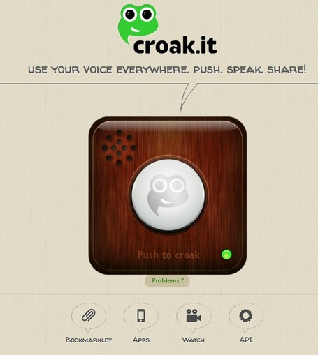 croak.it! - Create and Share Audio | TELT | Scoop.it