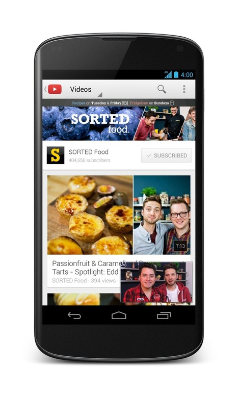 YouTube details how offline videos will work - CNET | Youtube | Scoop.it
