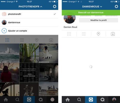 Mise à jour Instagram 7.15 : comment utiliser plusieurs comptes simultanément sur iOS et Android ? | Marketing digital & réseaux sociaux | Scoop.it