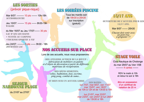 "Programme ""secteur jeune"" juillet 2014 | Jeunesse Vizille | Scoop.it"
