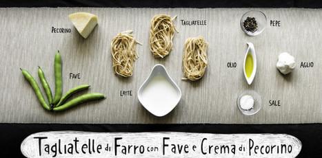 Tagliatelle di Farro con Fave e crema di Pecorino   Alimentazione Naturale, EcoRicette Veg e Vegan   Scoop.it