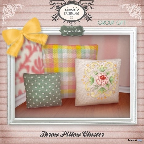 Throw Pillow Cluster Group Gift by irrie's Dollhouse | Teleport Hub - Second Life Freebies | Second Life Freebies | Scoop.it