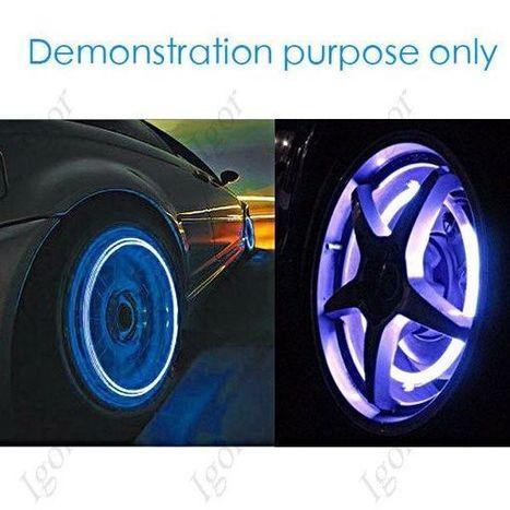 2 x Skull Valve Cap Light Wheel Tyre Lamp for Car Motorbike Bike | Motorcycle Safety | Scoop.it