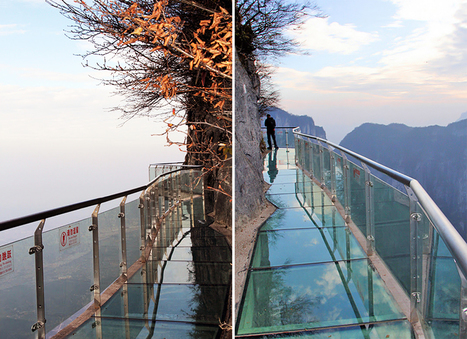 China: Glass walkway at Tianmen | Wicked! | Scoop.it