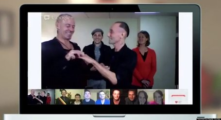 This Gay Couple Got Married Over A Google Hangout | Alt Digital | Scoop.it