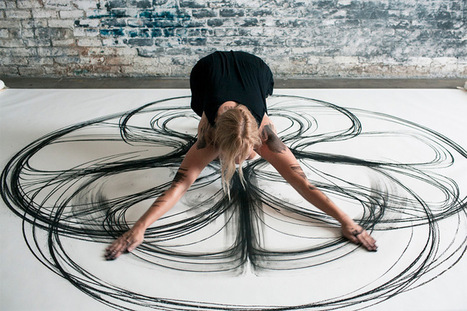 Physical Movement Translated into Symmetrical #Charcoal #Drawings by Heather Hansen #art | Beneath The Surface | Scoop.it