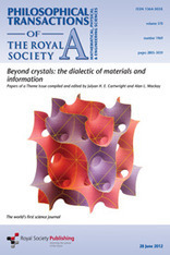 Philosophical Transactions A - Beyond crystals | Papers | Scoop.it