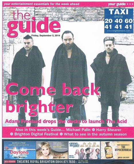 The Acid - Front Page   The Guide (Brighton) September 2014   Adam Freeland   Scoop.it