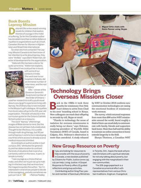 Faith Today - January/February 2012 - Page 10 | Christianity in Education | Scoop.it