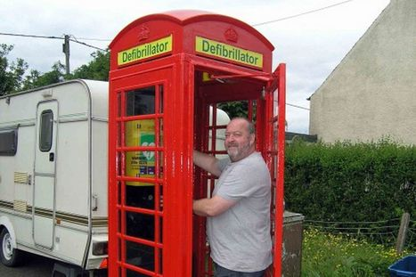 Villagers turn old phone box into mini A&E with life-saving machine | First Aid Training | Scoop.it