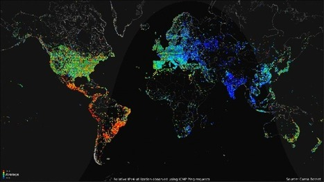 Check out this visual map that shows 24 hours of internet usage around the world | Technology & Business | Scoop.it