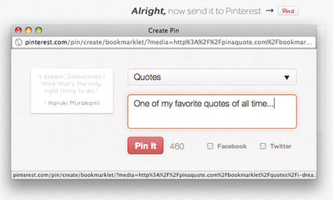 Pin A Quote Lets You Highlight Any Text & Pin It To Pinterest - SocialTimes.com   Cloud Central   Scoop.it
