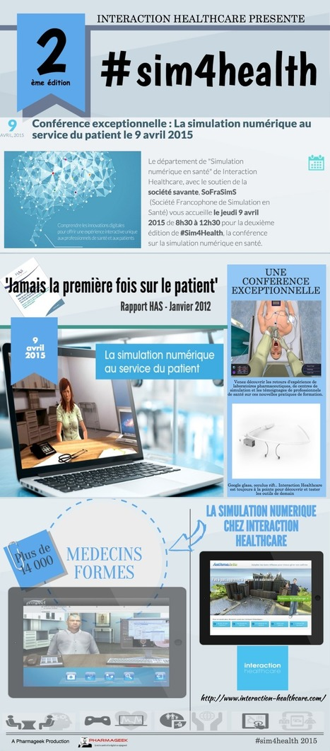 Conférence : La Simulation Numérique au service du patient #sim4health #hcsmeufr | GAMIFICATION & SERIOUS GAMES IN HEALTH by PHARMAGEEK | Scoop.it